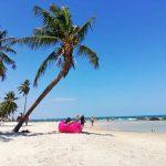 """Breve descanso en una de las """"playas de Bangkok"""""""